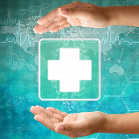 Medical icon First Aid  in hand Stock Photo - 18122166