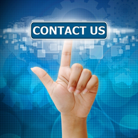 contact us: Hand press on CONTACT US button