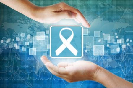 icône médicaux, aides symbole du ruban dans la main
