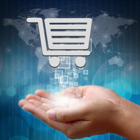 commerce: Panier en main