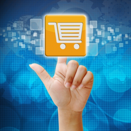 Dans icône de magasinage presse sur l'interface de l'écran tactile