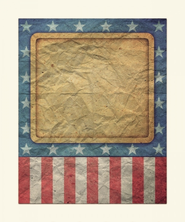 U.S.A. Flag for July 4th, Labor Day for Vintage  photo