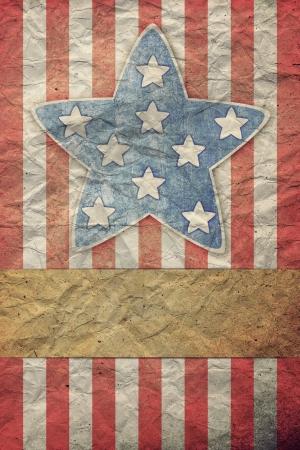 U.S.A. Flag for July 4th, Labor Day Foto de archivo