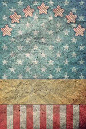 U S A  Flag for July 4th, Labor Day Foto de archivo