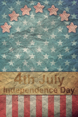 U.S.A. Flag for July 4th for Vintage  Stock Photo