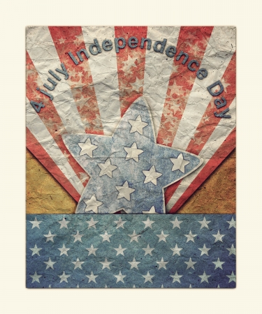 U.S.A. Flag for July 4th for Vintage  photo