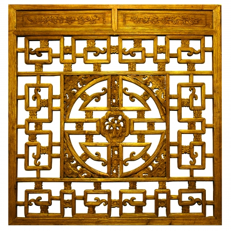 Chinese gold  Traditional wood carvings photo