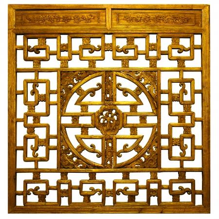 Or chinois sculptures traditionnelles en bois