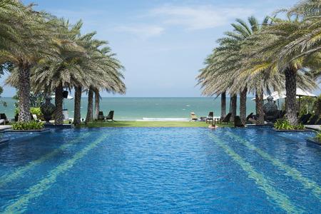 Luxury swimming pool a tropical resort
