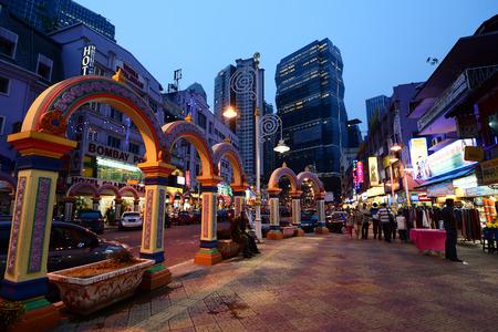 local landmark: Brickfields, Kuala Lumpur Editorial