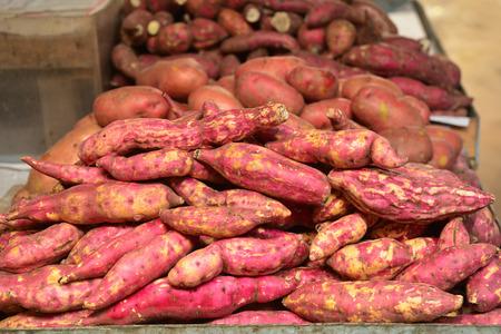 jhy: sweet potato on a market Stock Photo