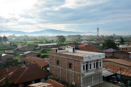 sumatra: City landscape. Berastagi, North Sumatra. Indonesia