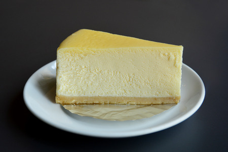 cheesecake tranche Banque d'images