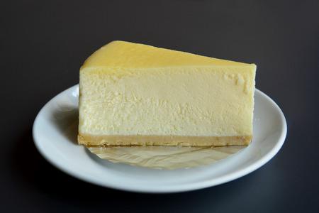 llanura: rebanada de pastel de queso