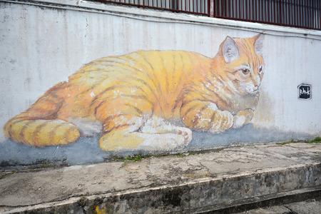 street art: Street Art, Georgetown Penang, Malaysia Editorial