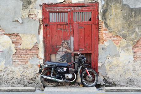 Street Art, Georgetown Penang, Malaysia Editorial