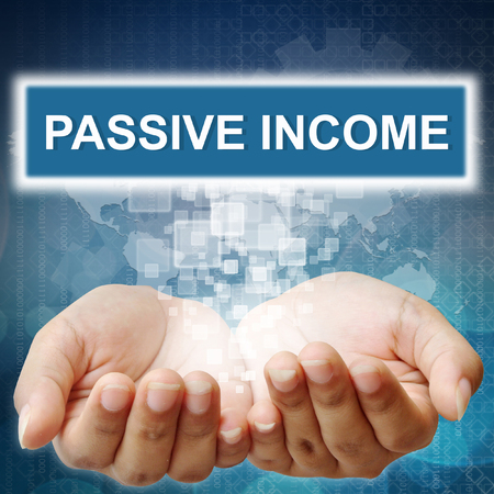 passive income: Hand pushing on touch screen interface  Passive Income