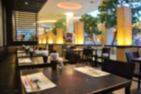 Blur shot on restaurant background
