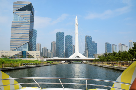 Central Park in Incheon, South Korea. Editorial