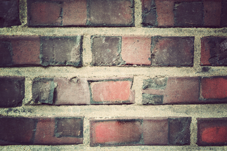 Brick textured wall background image, Vintage filter
