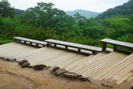Paysage dans le point de vue de Gyeongju National Park, Corée du Sud