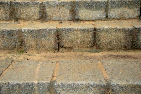 Escaliers en pierre étapes de fond