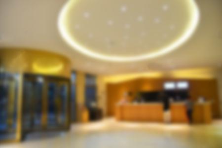 Résumé hôtel hall flou fond Banque d'images