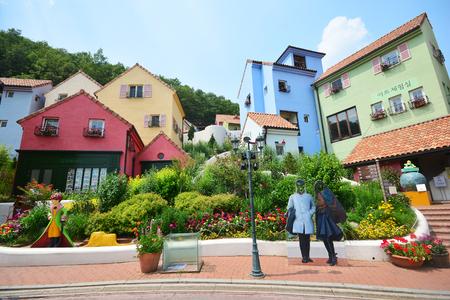 GYEONGGI, SOUTH KOREA - June 10,2016  : Petite France a popular tourist landmark in Gyeonggi, South Korea