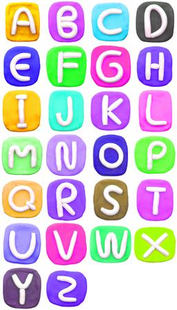 Colorful Plasticine letter a-z