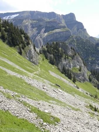 mountain panorama from Schynige Platte, switzerland Stock Photo - 13702526
