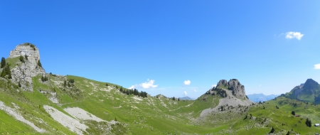 mountain panorama from Schynige Platte, switzerland photo