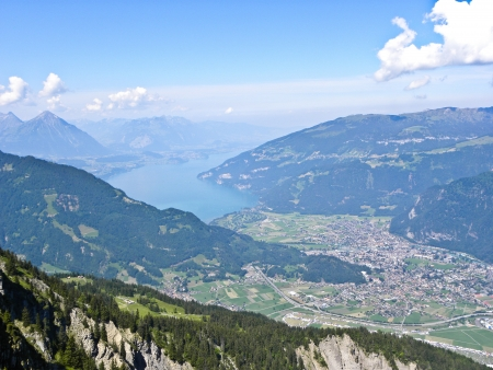 mountain panorama from Schynige Schynige Platte, switzerland photo