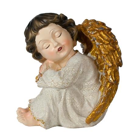 sleeping white christmas angel photo