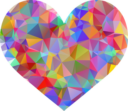Geometric Mosaic Heart Vector