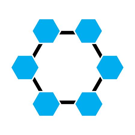 abstract background tech innovation hexagon pattern design