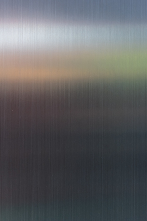 brushed aluminium: metal, stainless steel texture background with reflection Stock Photo