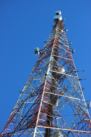 The tower telecom of thailand Stock Photo