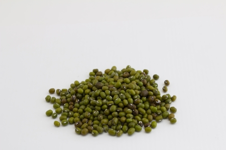 Mung beans isolated on white background photo