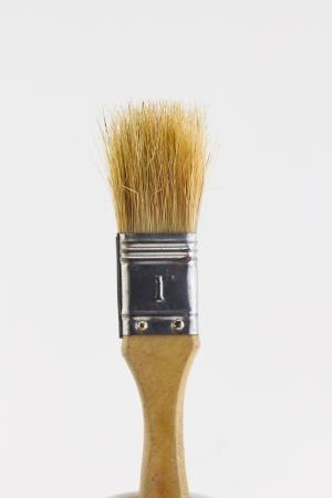 Paintbrush isolated on white background photo