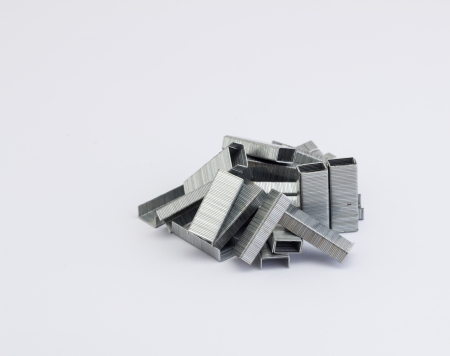 staples stack isolated on a white background photo