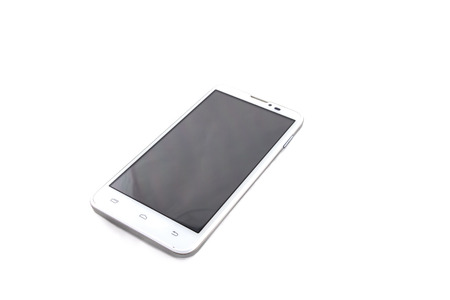 smartphone on a  white background. Black screen photo