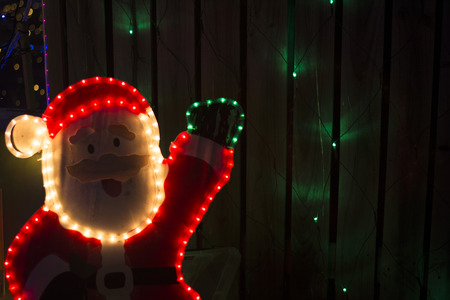 Beautiful display Christmas light. Stock Photo