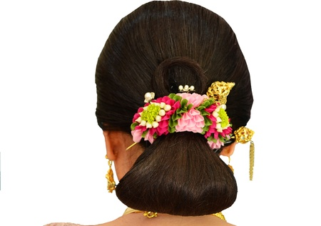 Garland Flower Bridal Hair photo