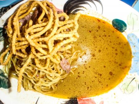 soi: khao soi , curry noodles , thai food  Stock Photo