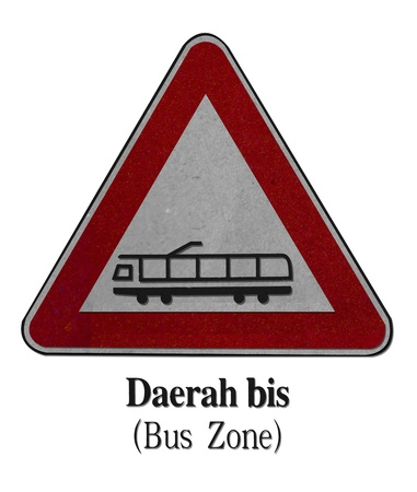 Bus-Zone-recycled-made-from-paper Stock Photo - 17725884