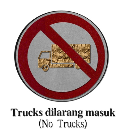 symbolization: No-Trucks-recycled-made-from-paper