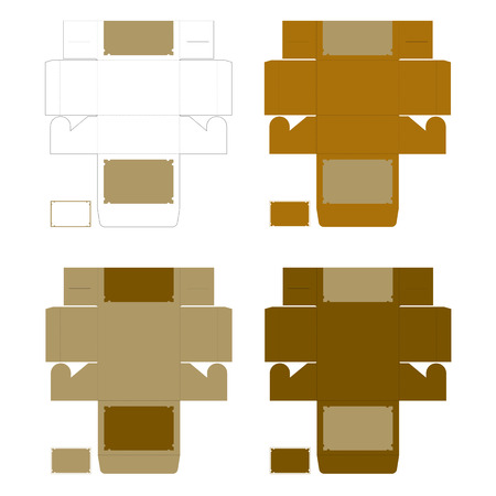 rectangle: Pattern of golden color rectangle boxes with rectangle card tag on white background