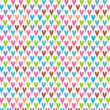 vactor: Pattern of sweet color heart symbol
