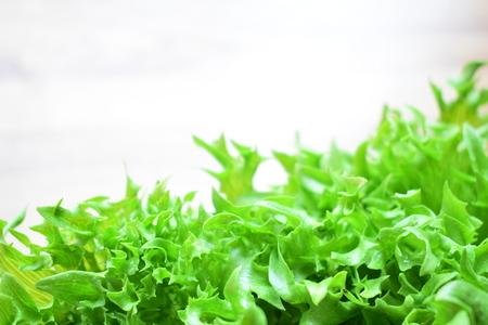 Green frilly iceberg lettuce