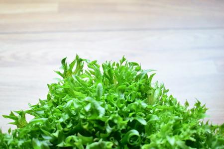 Fresh green frilly iceberg. Stock Photo